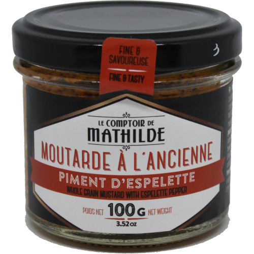 Moutarde à l'ancienne - Piment d'Espelette