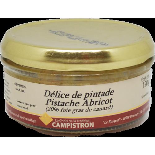 Délice de pintade Pistache Abricot (20% Foie Gras)