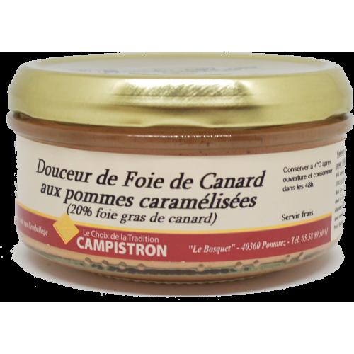 Douceur de foie de canard aux pommes caramélisées