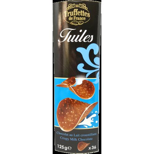 Tuiles au chocolat lait croustillant