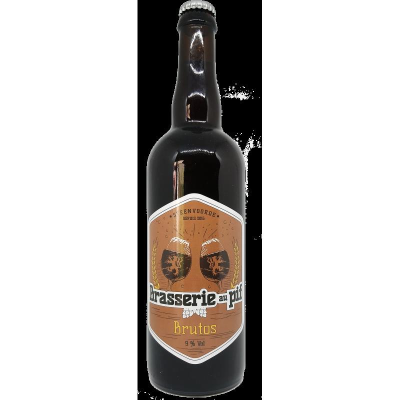 Brasserie au Pif Brutos - Bière Brune - 75cl