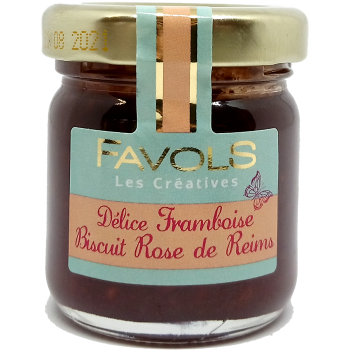 Confiture Framboise Biscuit Rose de Reims - 42g