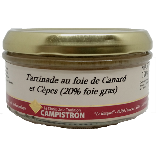 Tartinade au foie de canard et cèpes - 120g