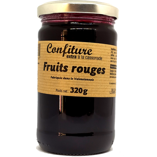 Confiture Fruits Rouges à la cassonade