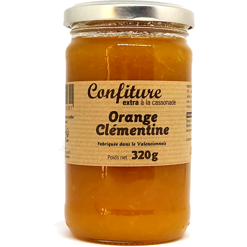 Confiture Orange Clémentine à la cassonade