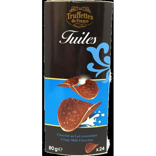 Tuiles au chocolat lait croustillant -80g