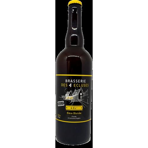 Brasserie des 4 Ecluses - 4 EC' - Bière Blonde - 75cl