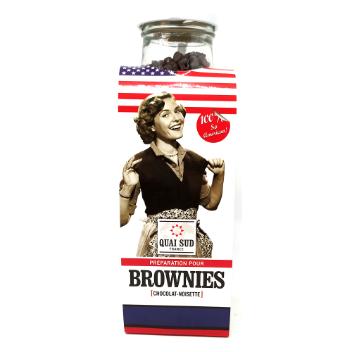 Kit préparation Brownies chocolat noisette - 330g