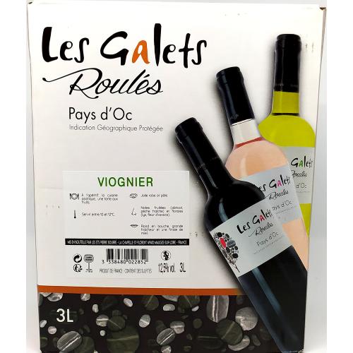 Les Galets Roulés Viognier - Pays d'oc - 3L