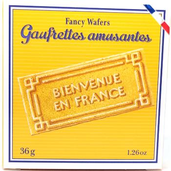 Gaufrettes amusantes vanille - 36g
