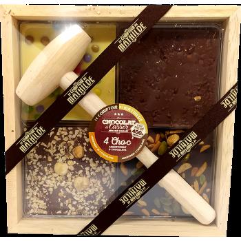 CHOCOLAT à casser 4 Choc' assortiment 3 chocolats - 400g