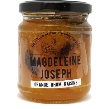 Confiture Orange, Rhum, Raisins - Magdeleine & Joseph - 240g