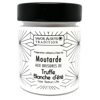 Moutarde aux brisures de Truffe Blanche d'Ete - 130g