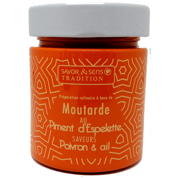 Moutarde au Piment d'Espelette Poivrons et Ail - 130g