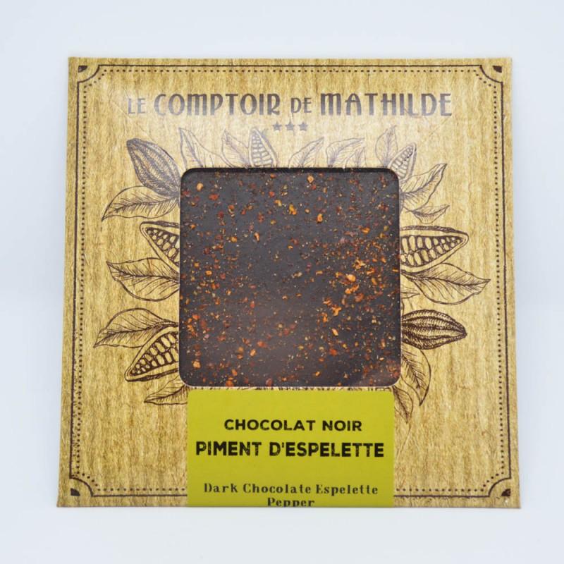 Tablette Piment d'Espelette - Chocolat noir
