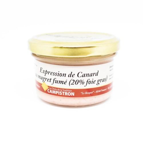 Expression de canard au magret fumé (20 % Foie Gras)