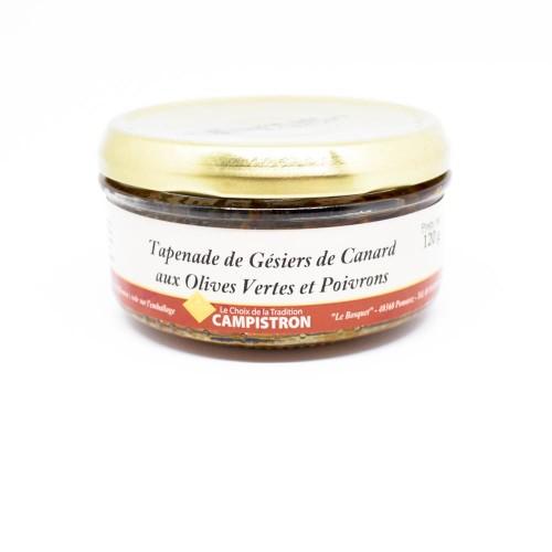 Tapenade de Gésiers de canard aux olives vertes et poivrons