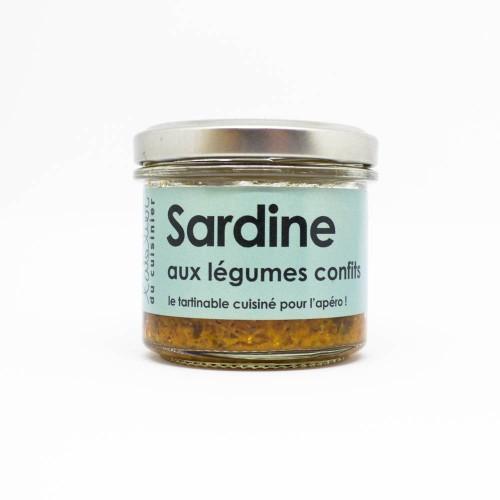 Rillettes de Sardine aux légumes confits